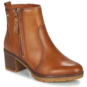 Schuhe Damen Low Boots Pikolinos LLANES Braun