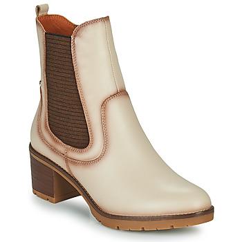 Schuhe Damen Low Boots Pikolinos LLANES Elfenbein