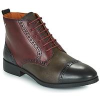Schuhe Damen Boots Pikolinos ROYAL Bordeaux / Schwarz / Braun