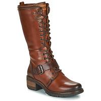 Schuhe Damen Klassische Stiefel Pikolinos SAN SEBASTIA Braun