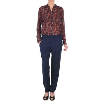 Kleidung Damen Fließende Hosen/ Haremshosen Marc O'Polo ALBA Blau / Rot