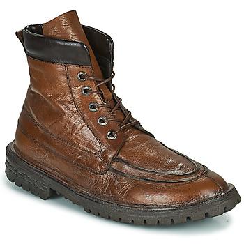 Schuhe Herren Boots Moma COMBAT Braun