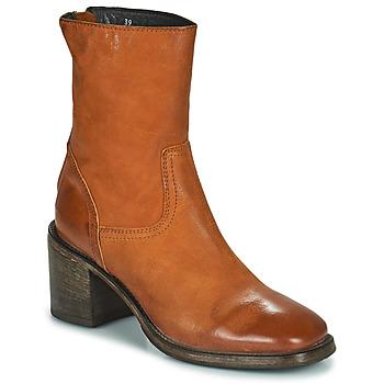 Schuhe Damen Low Boots Moma NANINI Braun