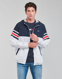 Kleidung Herren Jacken Tommy Jeans TJM COLORBLOCK ZIPTHRU Blau / Weiss / Rot