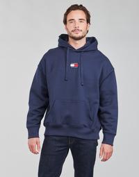 Kleidung Herren Sweatshirts Tommy Jeans TJM TOMMY BADGE HOODIE Marine