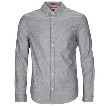 Kleidung Herren Langärmelige Hemden Tommy Jeans TJM STRETCH OXFORD SHIRT Schwarz