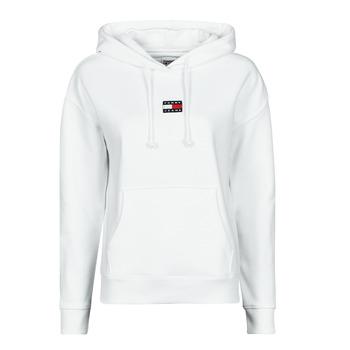 Kleidung Damen Sweatshirts Tommy Jeans TJW TOMMY CENTER BADGE HOODIE Weiss