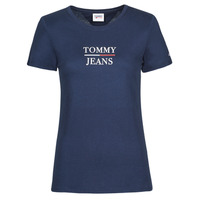 Kleidung Damen T-Shirts Tommy Jeans TJW SKINNY ESSENTIAL TOMMY T SS Marine