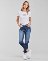 Kleidung Damen Straight Leg Jeans Tommy Jeans IZZIE HR SLIM ANKLE AE632 MBC Marine