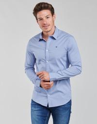 Kleidung Herren Langärmelige Hemden Tommy Jeans TJM ORIGINAL STRETCH SHIRT Blau