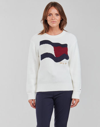 Tommy Hilfiger ORG CO FLAG C-NK SWEATER