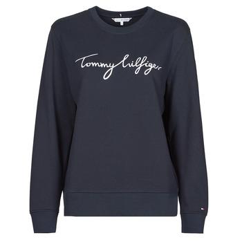 Kleidung Damen Sweatshirts Tommy Hilfiger REGULAR GRAPHIC C-NK SWEATSHIRT Marine