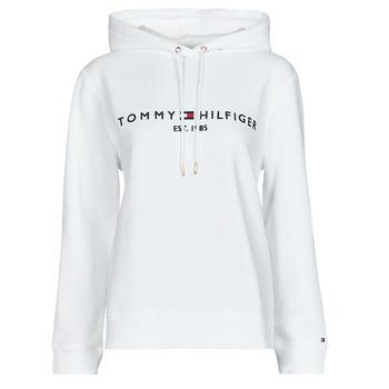 Kleidung Damen Sweatshirts Tommy Hilfiger HERITAGE HILFIGER HOODIE LS Weiss