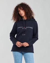 Kleidung Damen Sweatshirts Tommy Hilfiger HERITAGE HILFIGER HOODIE LS Blau