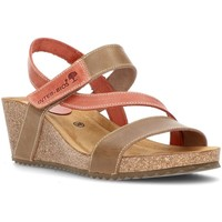 Schuhe Damen Sandalen / Sandaletten Interbios Sandalen Komfortabler Keil 2019 BEIG_TEJA