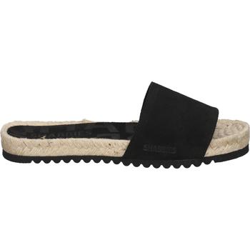 Schuhe Damen Pantoffel Shabbies Amsterdam Pantoletten Schwarz