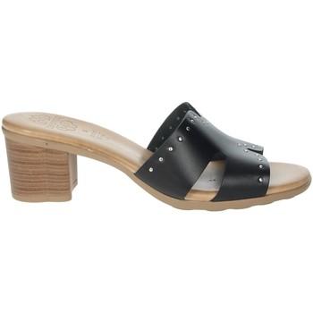 Schuhe Damen Pantoffel Porronet FI2625 Schwarz