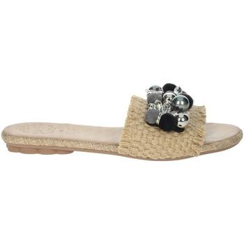 Schuhe Damen Pantoffel Porronet FI2608 Beige/Schwarz