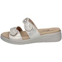 Schuhe Damen Pantoffel Susimoda 1923/13 PLATIN