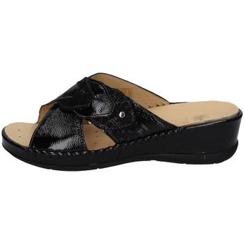 Schuhe Damen Pantoffel Susimoda 1063/58 SCHWARZ
