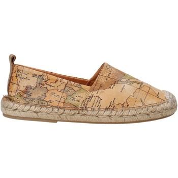 Schuhe Kinder Leinen-Pantoletten mit gefloch Alviero Martini P189 9430 Braun