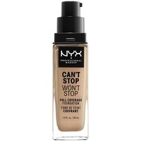 Beauty Damen Make-up & Foundation  Nyx Can't Stop Won't Stop Full Coverage Foundation soft Beige 30 m