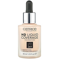 Beauty Damen Make-up & Foundation  Catrice Hd Liquid Coverage Foundation Lasts Up To 24h 010-light Bei