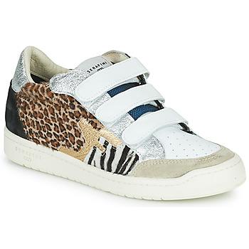 Schuhe Damen Sneaker Low Serafini SAN DIEGO Weiss / Silbern / Leopard