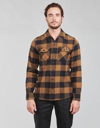 Kleidung Herren Langärmelige Hemden Dickies NEW SACRAMENTO SHIRT Camel / Schwarz