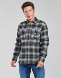 Kleidung Herren Langärmelige Hemden Dickies EVANSVILLE LS Schwarz