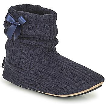 Schuhe Damen Hausschuhe Isotoner 97720 Marine