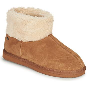Schuhe Damen Hausschuhe Isotoner 97307 Camel