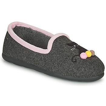 Schuhe Damen Hausschuhe Isotoner 97311 Grau / Rose