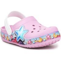 Schuhe Mädchen Pantoletten / Clogs Crocs FL Star Band Clog 207075-6GD violett