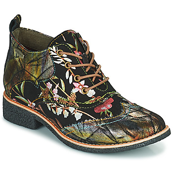 Schuhe Damen Boots Laura Vita COCRALIEO Schwarz / Grün / Rose