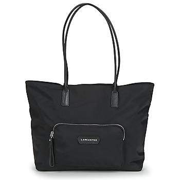Taschen Damen Shopper / Einkaufstasche LANCASTER BASIC PRENIUM Schwarz