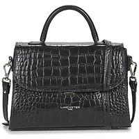 Taschen Damen Handtasche LANCASTER EXOTIC CROCO FR Schwarz