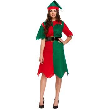Kleidung Damen Kurze Kleider Christmas Shop CS086 Grün/Rot
