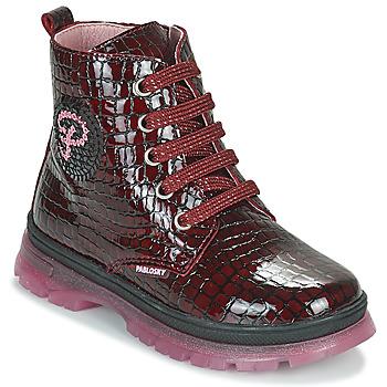 Schuhe Mädchen Boots Pablosky 404167 Bordeaux