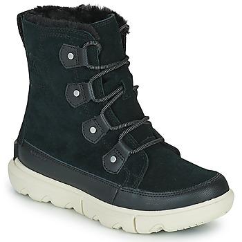 Schuhe Damen Boots Sorel SOREL EXPLORER II JOAN FAUX FUR Schwarz