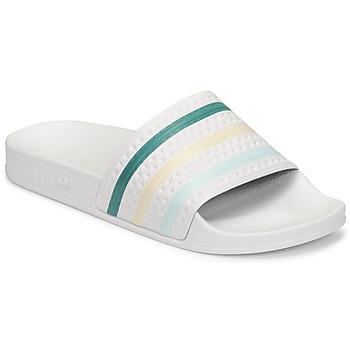 Schuhe Damen Pantoletten adidas Originals ADILETTE Weiss / Grün / Rose