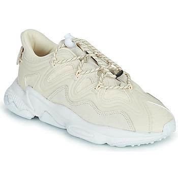 Schuhe Damen Sneaker Low adidas Originals OZWEEGO PLUS W Beige