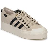 Schuhe Damen Sneaker Low adidas Originals NIZZA PLATFORM W Beige / Schwarz
