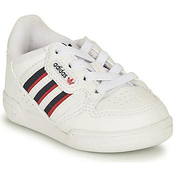 Schuhe Kinder Sneaker Low adidas Originals CONTINENTAL 80 STRI I Weiss / Blau
