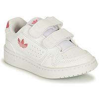 Schuhe Mädchen Sneaker Low adidas Originals NY 90 CF I Weiss / Rose