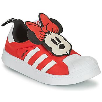 Schuhe Mädchen Sneaker Low adidas Originals SUPERSTAR 360 C Rot / Braun / violett / weiss