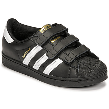 Schuhe Kinder Sneaker Low adidas Originals SUPERSTAR CF C Schwarz / Weiss
