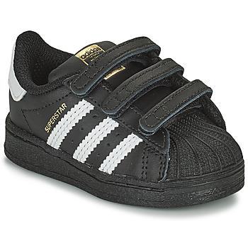 Schuhe Kinder Sneaker Low adidas Originals SUPERSTAR CF I Schwarz / Weiss