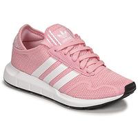Schuhe Mädchen Sneaker Low adidas Originals SWIFT RUN X J Rose / Weiss