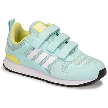 Schuhe Kinder Sneaker Low adidas Originals ZX 700 HD CF C Blau / Gelb